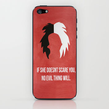 Disney Villain - Cruella De Vil iPhone & iPod Skin by Tessa Simpson