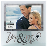 Malden You and Me Frosted Mirrored Glass Picture Frame