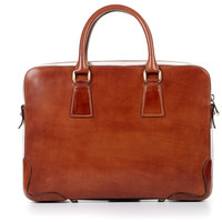 Italian Leather Briefcase - Marrone