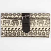 Elephant Tribal Buckle Wallet Ivory One Size For Women 22799716001