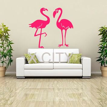 Pink Flamingo VINYL DECAL For Wall Home Decor