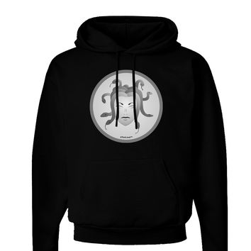 Medusa Head Coin - Greek Mythology Dark Hoodie Sweatshirt by TooLoud