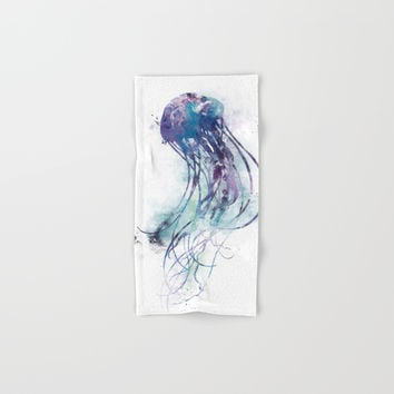 Jellyfish Hand & Bath Towel by monnprint