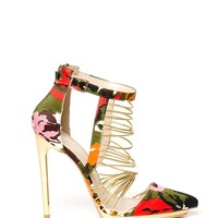 Liliana Danielle-2 Strappy Heel - Green/Multi from Liliana at ShopRoxx.com