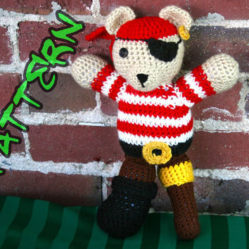 Peg Leg Pirate Bear Amigurumi Pattern