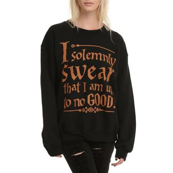 Women Fashion Harry Potter T-shirt - I Solemnly Swear That I Am Up To No Good
