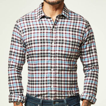 Cream Burg Plaid Flannel Shirt - Mike
