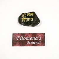 Om Namah Shivaya, Yoga Meaning, Sanskrit Mantra, Yoga Saying, Hindu God, Shiva, Yogi Gift Idea, Altar words, Hindu stone, Motivational Gift
