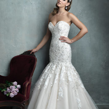 Allure Couture C331 Beaded Mermaid Wedding Dress
