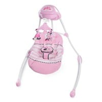 Disney Minnie Mouse Blushing Bows Baby Portable Rotating Musical Swing