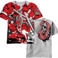 Deadpool - Dead Red All-Over T-Shirt