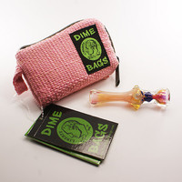 "Honeycomb Chillum and 5"" Pink Dime Bags Pouch"