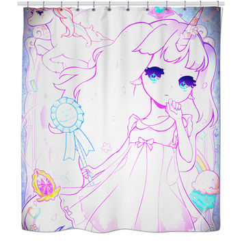 Kawaii shower curtain