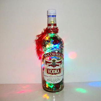 Liquor Bottle Lamp - Lighted Bottles - Home Bar Light - Bottle Light