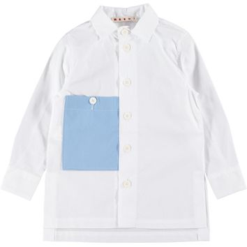 Marni Girls Dressy White Button Up