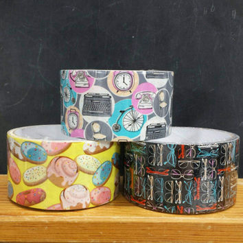 Decorative Duct Tape Donuts Retro Eyeglasses Vintage Style Design CHOOSE ONE Gifts DIY Planners Art Cards Paper Crafts Scrapbooking Supplies