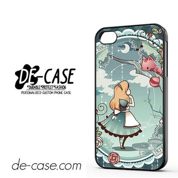 Disney Alice In Wonderland Wallpaper For Iphone 4 Iphone 4S Case Phone Case Gift Gift Present