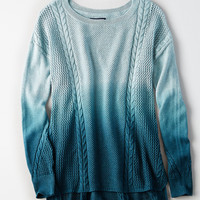 AEO Softest Stitchmix Sweater, Mint