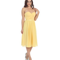 Daffodil Yellow Corset Back Short Dress