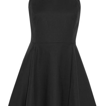 Pleated stretch cotton-canvas mini dress | Halston Heritage | US | THE OUTNET