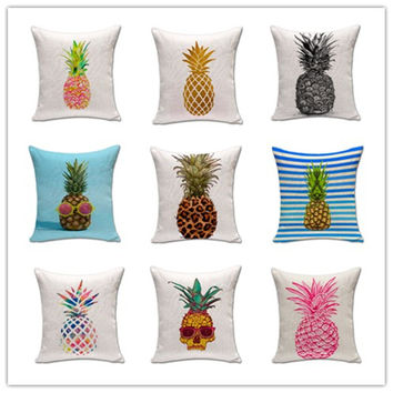 Pineapple Printed Cushion Cover