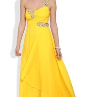 Dress with Pleated Bodice and