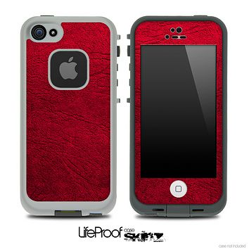 Rich Red Leather Skin for the iPhone 5 or 4/4s LifeProof Case