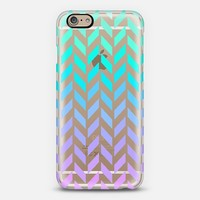 Pastel Ombre Herringbone Transparent iPhone 6 case by Organic Saturation | Casetify
