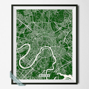 Moscow Print, Russia Poster, Moscow Poster, Moscow Map, Russia Print, Street Map, Moscow Poster, Russia Map, Wall Art
