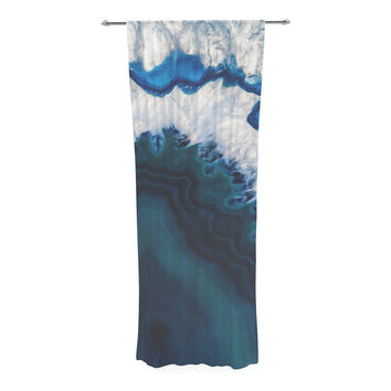 "KESS Original ""Blue Geode"" Nature Photography Decorative Sheer Curtain"