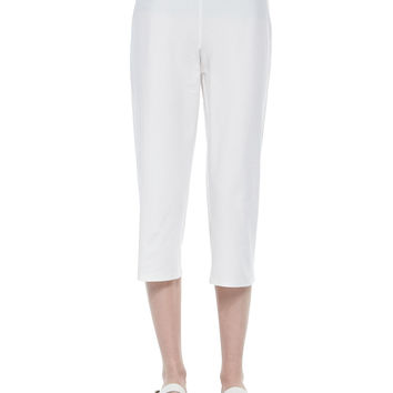 Slim Crepe Capri Pants,