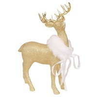 Threshold Gold Resin Deer w/ Burlap Pattern - Small