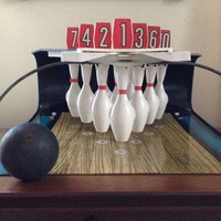 Tudor games vintage tabletop bowling game with box