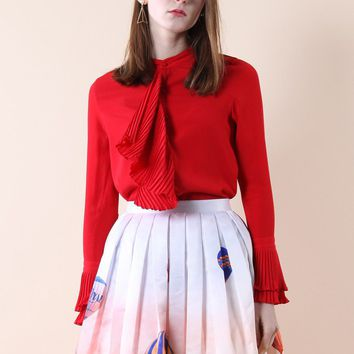 Frills in Elegance Red Top