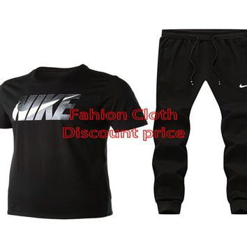 Nike Short Sleeve T-Shirt Trousers 2018 Spring New Style Clothes L--4X X-911925 Black