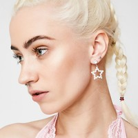 Pearly Night Earrings