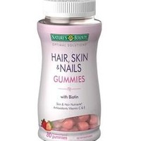 Nature's Bounty Hair, Skin & Nails Gummies with Biotin | Walgreens