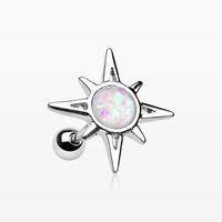 Cosmic Sunburst Opal Cartilage Tragus Earring