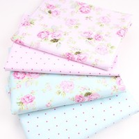 New 2pic/lot 40x50cm Cotton Fabric for Sewing Quilting Patchwork Tissue baby dress Bedding tecidos DIY Doll cloth fabrics k386