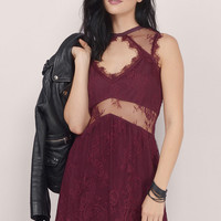 Sure Romance Lace Babydoll Dress $48