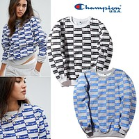 Hoodies Plaid Couple Jacket [11299229895]