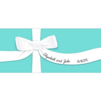 Personalized Something Blue Table Runner (Multiple Sizes Available), Bridal Shower Decoration, Tiffany Blue Theme Decorations