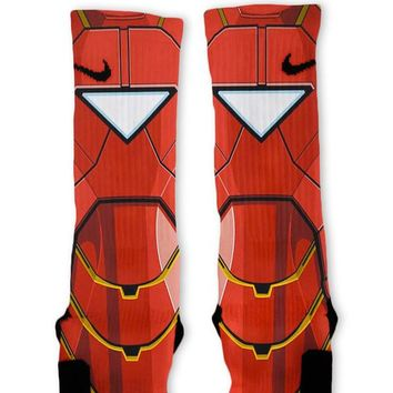 Iron Man Avengers Custom Nike Elite Socks