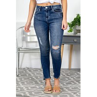 Dear John High Waisted Distressed Skinny Jeans