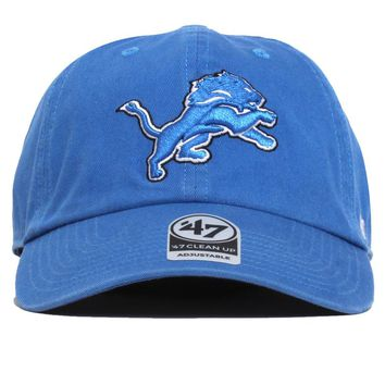 Detroit Lions Clean Up Hat Blue Raz
