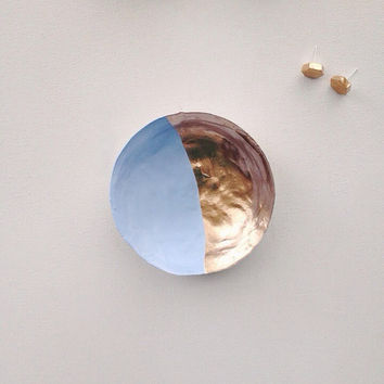 Jewelry Dish/Pastel Blue/Metallic