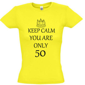 Keep calm you are only 50,gift ideas,50th birthday gift,gift for dad,gift for husband,gift for mom,gift for wife,gift for aunt,uncle gift