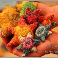 Stuffed Stars - Knitted stars for mobile, gifts and more - knitting pattern pdf download