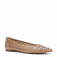 Lana Cutout Leather Flats