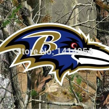 Baltimore Ravens   real tree camo  Flag 150X90CM Banner 100D Polyester3x5 FT flag brass grommets 001, free shipping